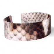 Armband Resin Snake matt Brown-grey