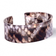 Armband Resin Snake shiny Brown-grey
