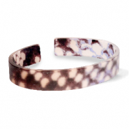 Armband Resin loose fit Snake matt Brown-grey