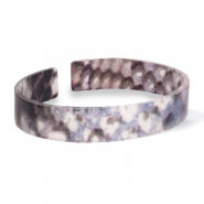 Armband Resin loose fit Snake matt Blue-brown
