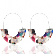 Musthave Ohrringe Resin Multicolour-silver