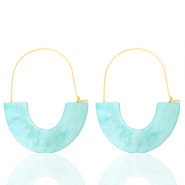 Musthave Ohrringe Resin Turquoise-gold