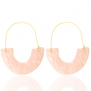Musthave Ohrringe Resin Peach-gold