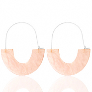 Musthave Ohrringe Resin Peach-silver