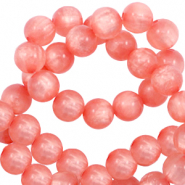 Polaris Perle 6mm rund pearl shine Burnt coral pink