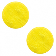 12 mm flach Polaris Elements Cabochon Lively Empire yellow