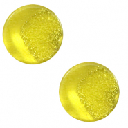 12 mm flach Polaris Elements Cabochon Stardust Empire yellow