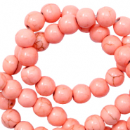Keramik Perlen 6mm Rose peach