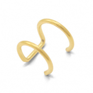 Stainless Steel - Rostfreiem Stahl Ohrringe Ear Cuffs Double Gold