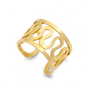 Stainless Steel - Rostfreiem Stahl Ohrringe Ear Cuffs Swirl Gold