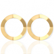 Musthave Ohrringe open Circle 41mm matt Gold (Nickelfrei)