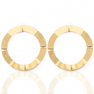 Musthave Ohrringe open Circle 41mm Gold (Nickelfrei)