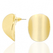 Musthave Ohrringe oval matt Gold (Nickelfrei)