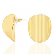 Musthave Ohrringe oval Gold (Nickelfrei)
