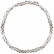Top Facetten Glas Armband 4x3mm Greige crystal-pearl shine coating