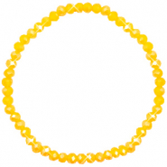 Top Facetten Glas Armband 4x3mm Freesia yellow opal-pearl shine coating