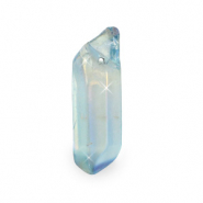 Aura Quartz Crystal Anhänger Naturstein Light blue opal