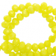 Facetten Top Glas Perlen 4x3mm Rondellen Charlock yellow-pearl shine coating