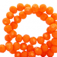 Facetten Top Glas Perlen 6x4mm Rondellen Emberglow orange-pearl shine coating