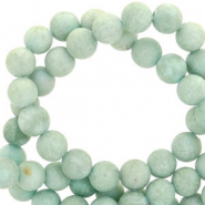 6 mm Perlen Naturstein rund Mountain Jade Matt Cameo green
