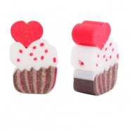 Perlen Polymer Cupcake Brown-red