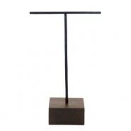 Schmuck Display Ohrringe T-From mit Holz Ständer Black-dark brown