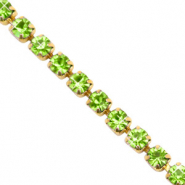 Strass Kette Lime green-gold