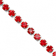 Strass Kette Siam red-silver