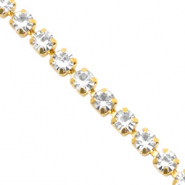 Strass Kette Crystal-gold