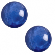 12 mm classic Polaris Elements Cabochon pearl shine Iolite blue