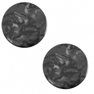 12 mm flach Polaris Elements Cabochon Lively Carbone black
