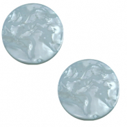 12 mm flach Polaris Elements Cabochon Lively Acquario blue