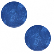 12 mm flach Polaris Elements Cabochon Lively Iolite blue
