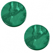12 mm flach Polaris Elements Cabochon Lively Agata green