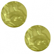 12 mm flach Polaris Elements Cabochon Lively Origano green