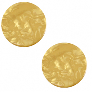 12 mm flach Polaris Elements Cabochon Lively Curry yellow