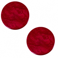 12 mm flach Polaris Elements Cabochon Lively Rubino red