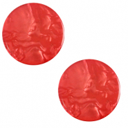12 mm flach Polaris Elements Cabochon Lively Ibisco red