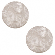 12 mm flach Polaris Elements Cabochon Lively Acciaio grey