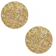 12 mm flach Polaris Elements Cabochon Goldstein Curry yellow