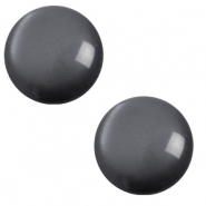 12 mm classic Polaris Elements Cabochon soft tone Carbone black