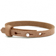 Cuoio Kids Armband 8mm für 12mm Cabochon Toasted nut brown