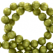 Super Polaris Perle 6mm rund Origano green