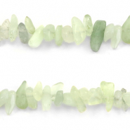 Perle Chips Steine Light crysolite green