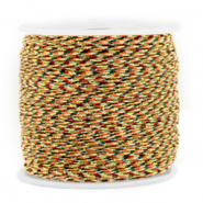 Band Macramé 0.8mm Mixed brown-gold