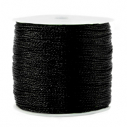 Metallic Band Macramé 0.5mm Black