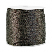 Metallic Band Macramé 0.5mm Anthracite