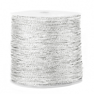 Metallic Band Macramé 0.5mm Silver