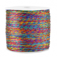 Metallic Band Macramé 0.5mm Colour mix blue
