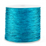 Metallic Band Macramé 0.5mm Azure blue